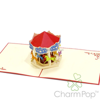 Carousel pop up card Vietnam manufacturer happy birthday greeting card