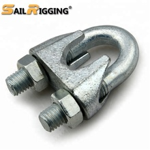 China Rigging <span class=keywords><strong>Hardware</strong></span> Temperguss U Förmigen Din741 Casting Stahl Draht Seil Clip Clamp