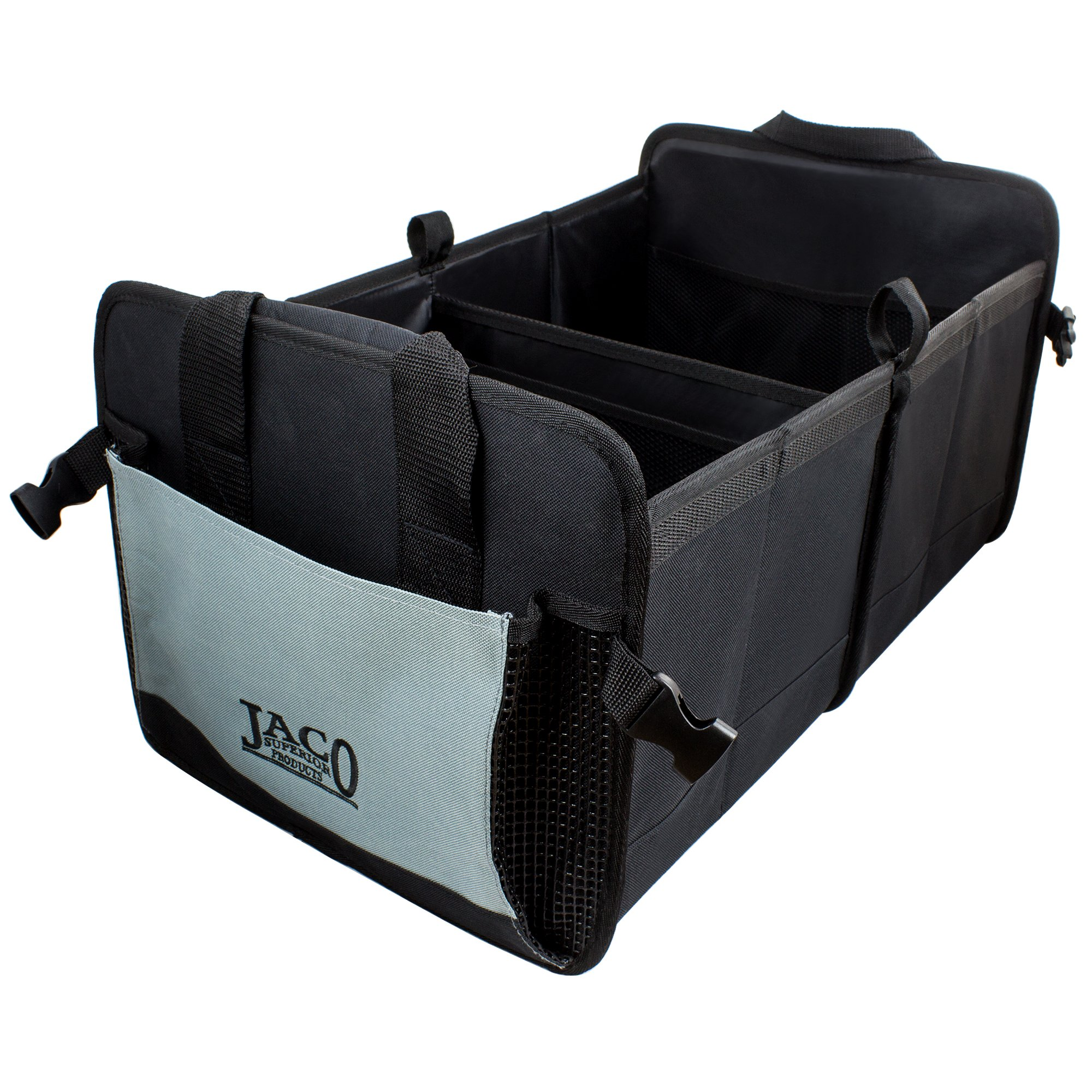 JACO Superior Products JACO CargoPro Trunk Organizer - Premium Auto Cargo Storage Container for Car, Truck, SUV - Heavy Duty (Black/Grey)