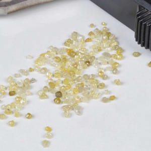Yellow Round Industrial quality Rough uncut Diamonds