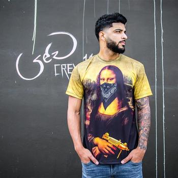 Custom Printed T Shirt Unisex sublimated digital printed cut and sew Print on demand made to order