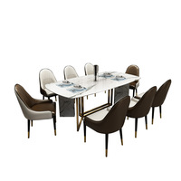 2018 New Design Modern Marble Dining Table Set with 6 Chairs
