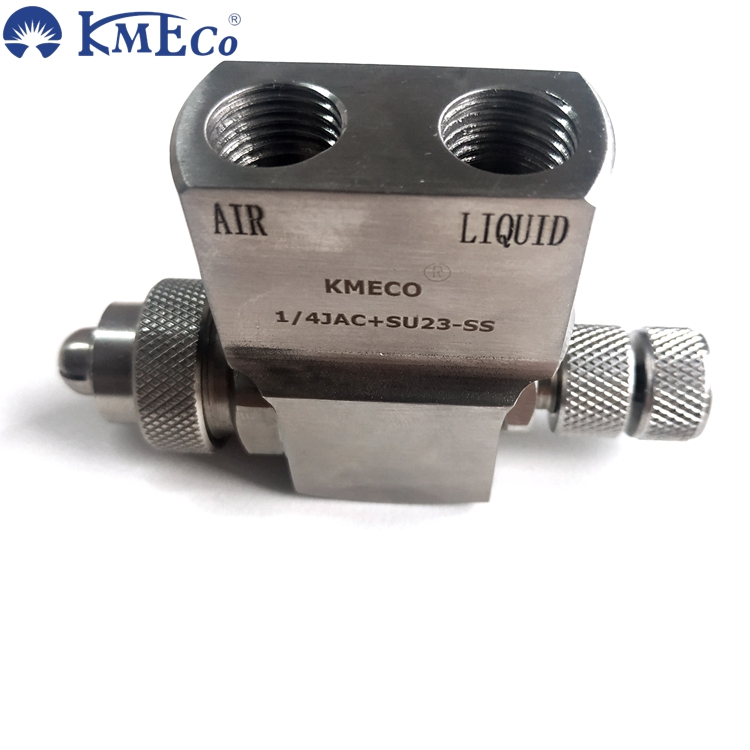 KMECO 1/4  Top inlet JAC Air atomizng nozzle