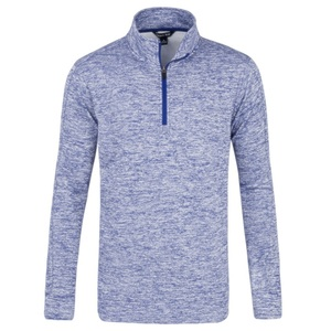 100% Polyester Moisture-Wicking Fleece 1/4-Zip Pullover Mens Golf Clothing