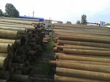 Wooden poles for power lines 12 meters