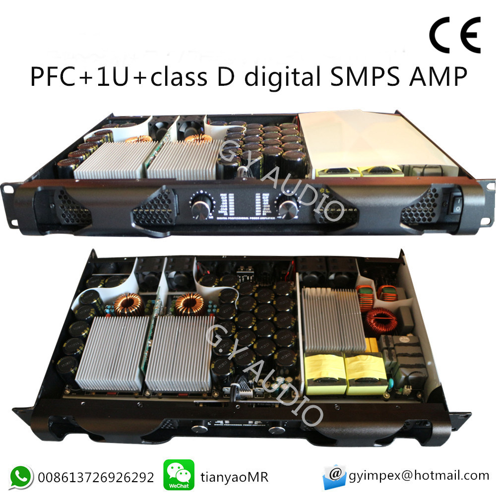 China High Quality 1u Class D 2 Channel Digital Smps Amplifier 1400w 1100w  With Pfc - Buy 1400w Smps Power Amplifier,1100w 1400w Digital
