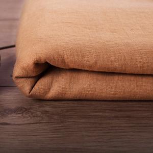 Mustard 100% Linen Fabric, stonewashed and softened, 200g/m2
