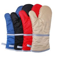 Heat Resistant Gloves Silicone BBQ Oven Mitts Glove Kitchen Cooking Pot Holder Best Quality By Taidoc