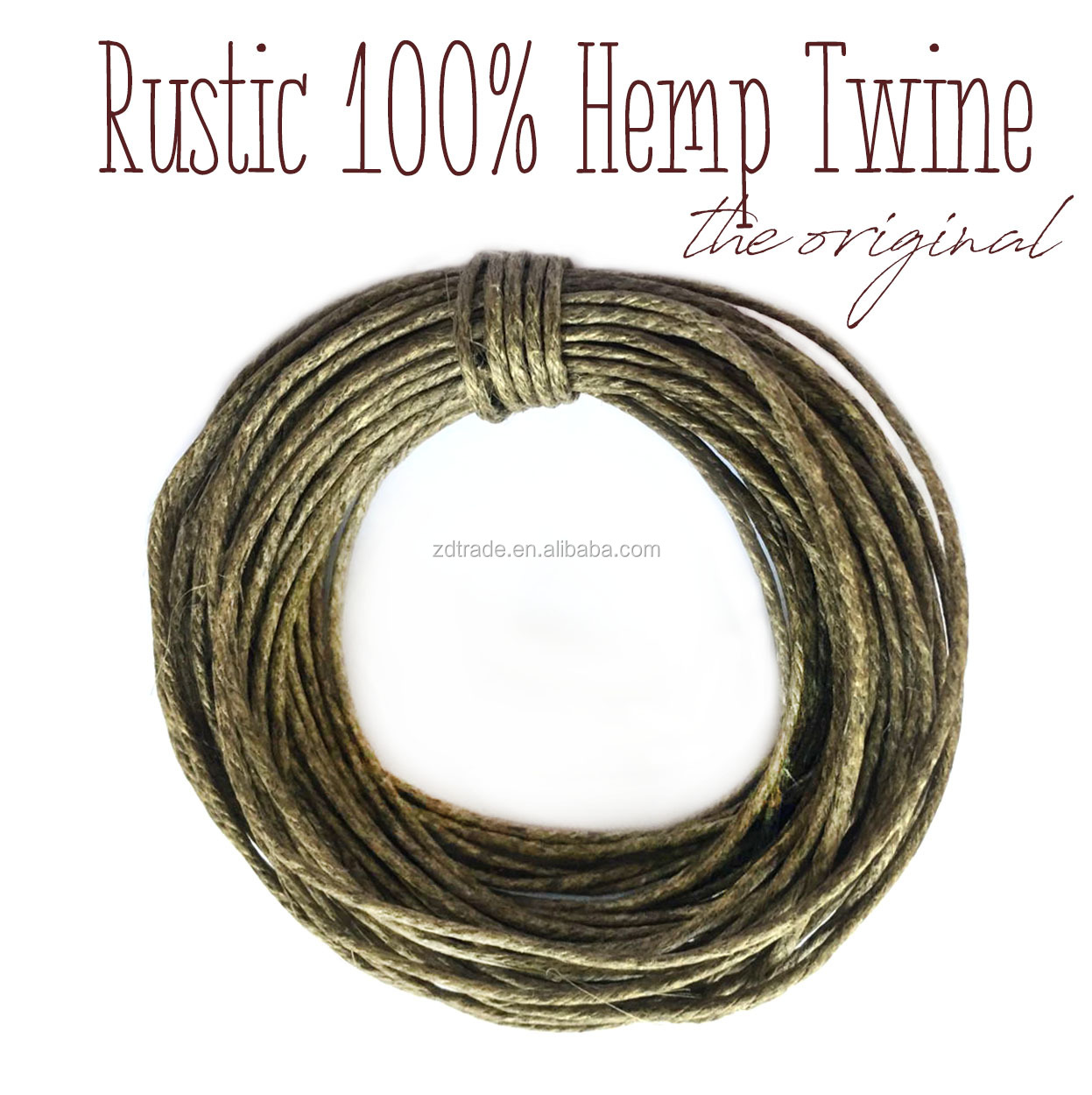 48LB Tested 1.5mm Rustic Feel Waxed 100% Hemp cord, Beading & Macrame