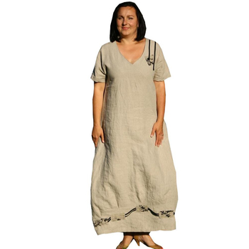 Plus Size White Linen Dress – Fashion dresses