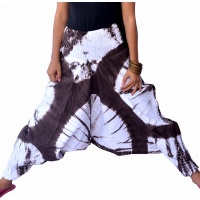 Harem pants cotton tie dyed hippie boho yoga trousers