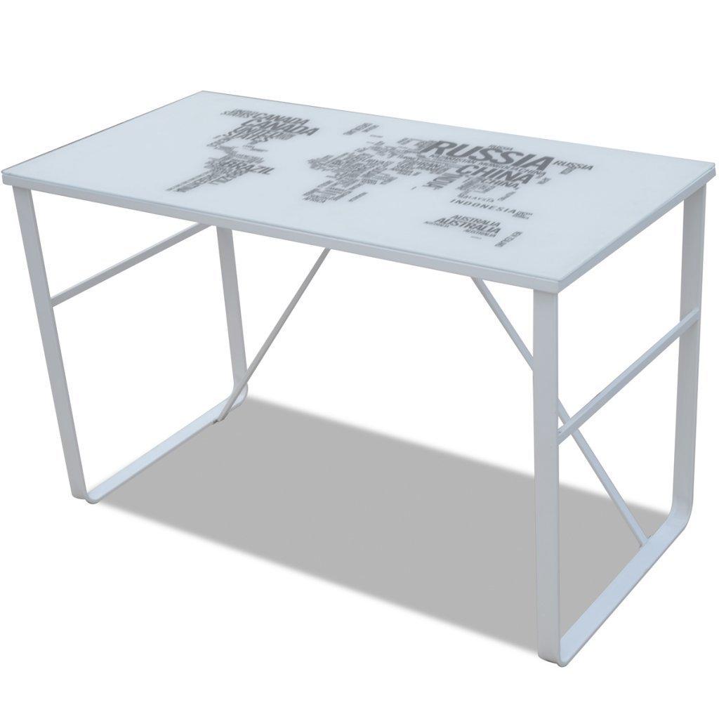 Daonanba Simple-style Computer Desk Rectangular Desk with Map Pattern