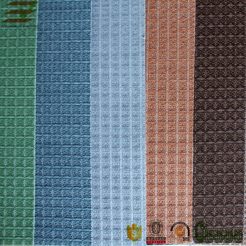 Different patterns pane style vertical blind fabric rolls