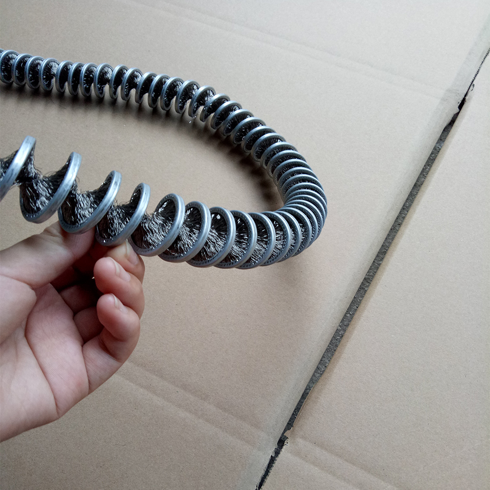 Ngược xoắn ốc dây thép tẩy rửa bàn chải