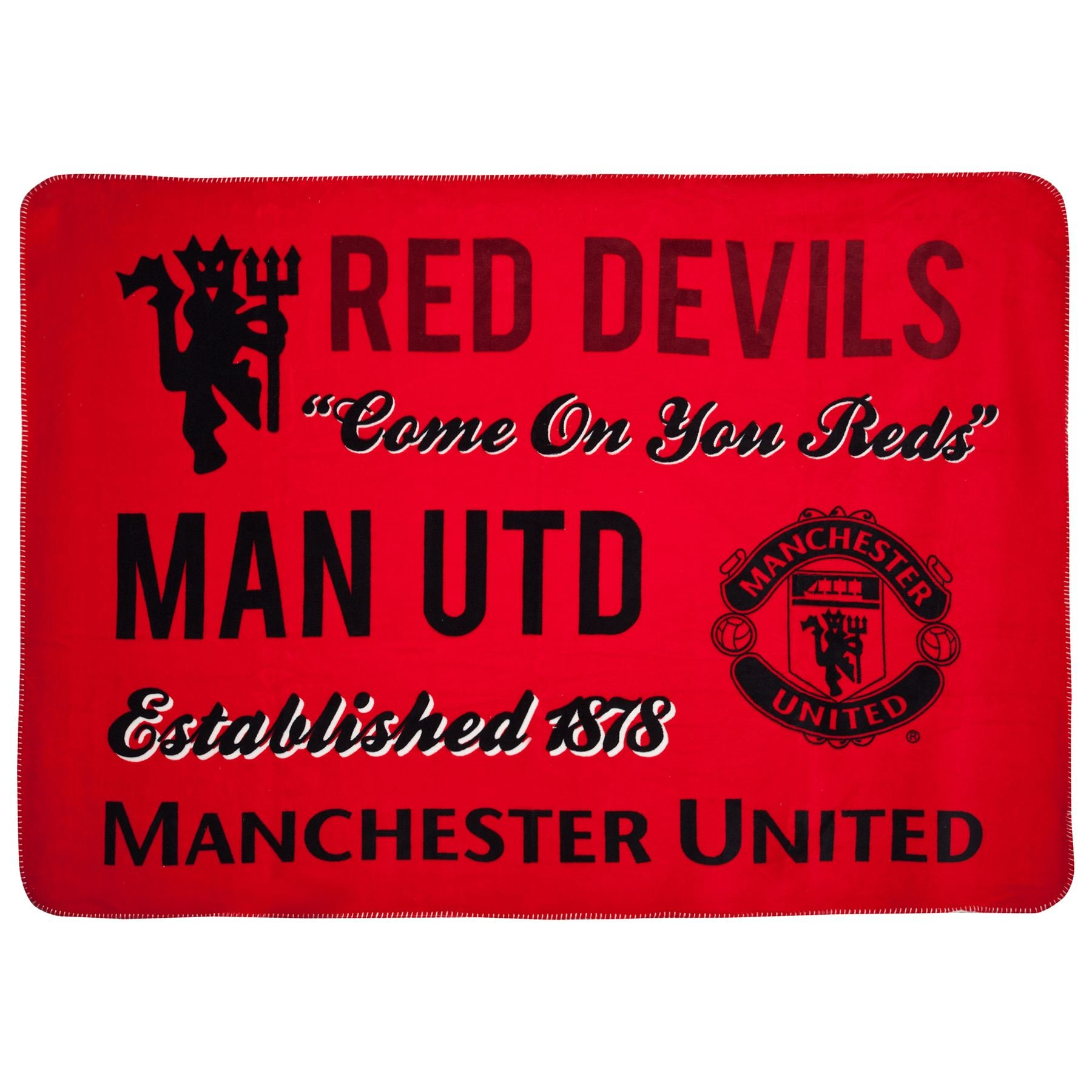 Official Manchester United FC Sherpa Fleece Blanket