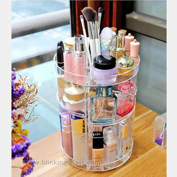 High Quality 360 Degree Rotating acrylic Makeup Storage Organizer Cosmetic Storage Box