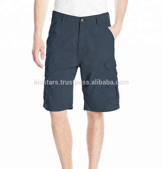 Top Export High Quality Cotton Dull Navy Six Pockets Unisex Cargo Shorts 2018