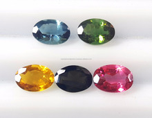 Wholesale Calibrated size Excellent Oval Cut Natural Multi Tourmaline Loose Gemstone
