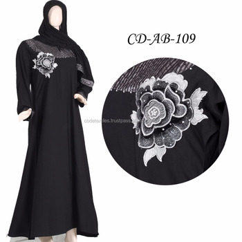 2018 Latest Burqa designs Pictures Muslim Lace Abaya Elegant Arabic Evening Long Dress Modern Islamic