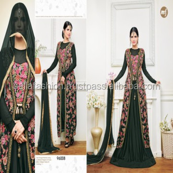 e05eeb3912bf9 Indian and Pakistani Women Wear Special Bridal and Wedding Looking Single  Piece Designer Anarkali Style Indo