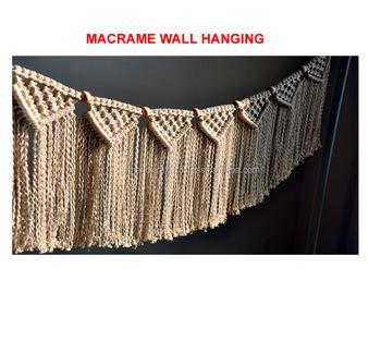Macrame Wall Hanging Boho Wall Decor Garland Cotton Woven Rope Garland Buy Boho Garland Wedding Macrame Banner Macrame Backdrop Product On