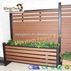 composite wood garden fencing with metal fencing post