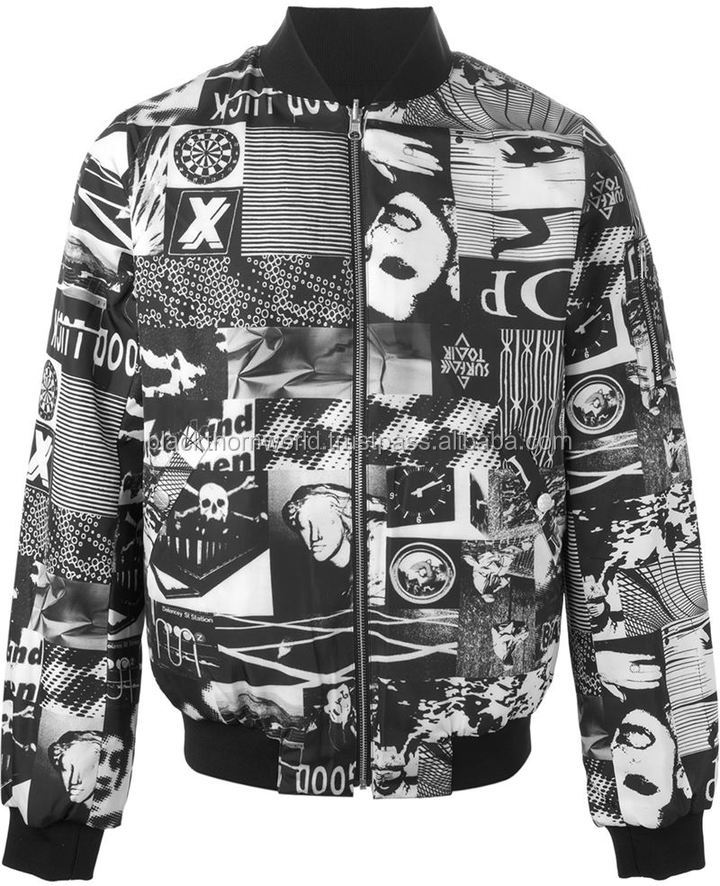 Fully sublimation printed bomber jacket with fastening zippered, custom design, print accepted