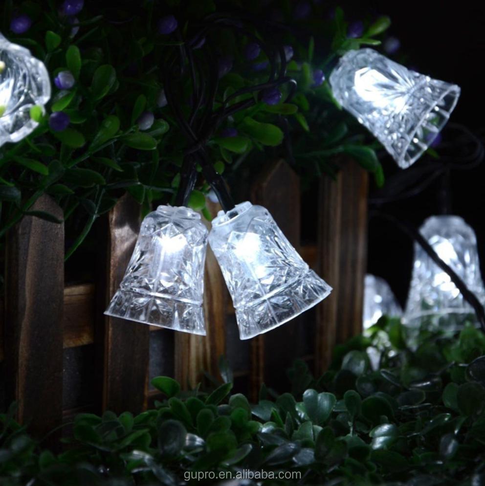 40 Led 25ft 8 Modes Bell Solar Christmas Solar Lamp Waterproof Led
