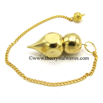 Atacado Metal Dowsing Pendulum Golden Style 35