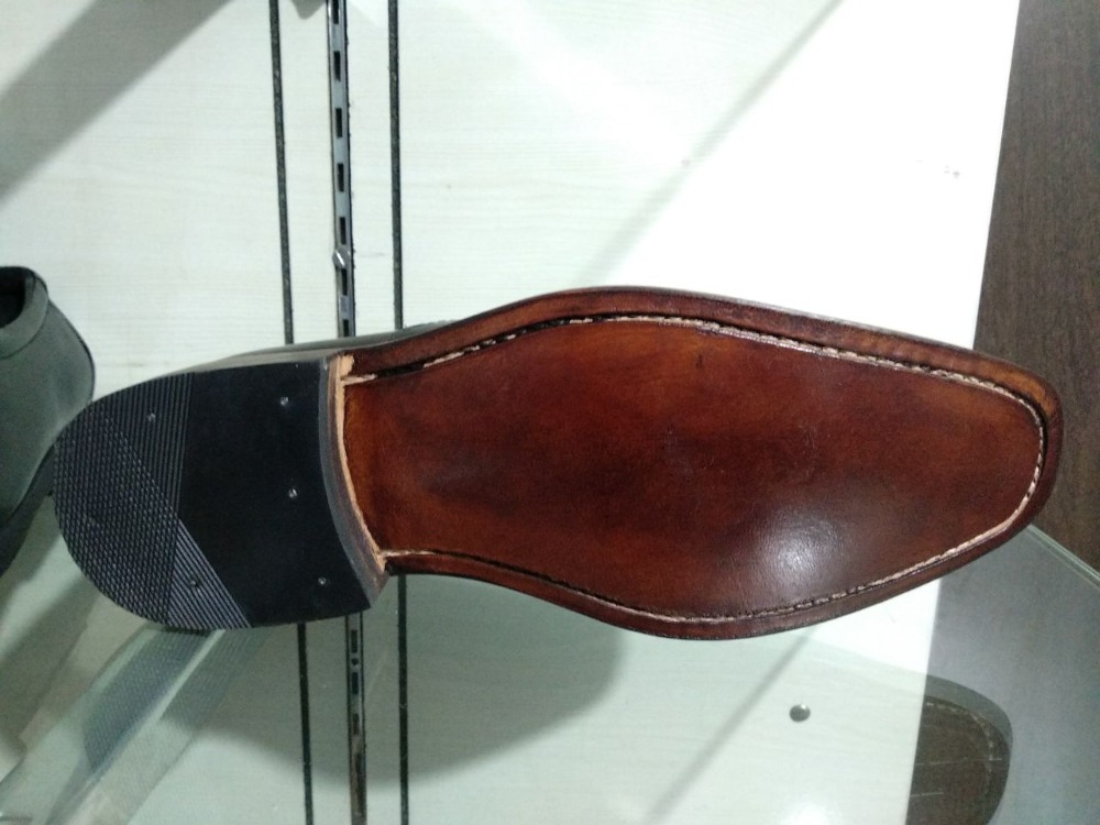SHOE FULL LEATHER GOODYEAR HANDMADE WELTED 100 wqxvpX