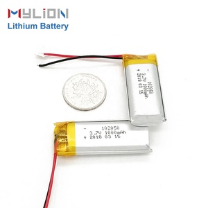 mylion 102050 1000mah 3.7v li ion batteries pack lithium polymer bluetooth battery
