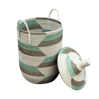 High quality best selling eco-friendly nice bamboo seagrass storage baskets from Vietnam