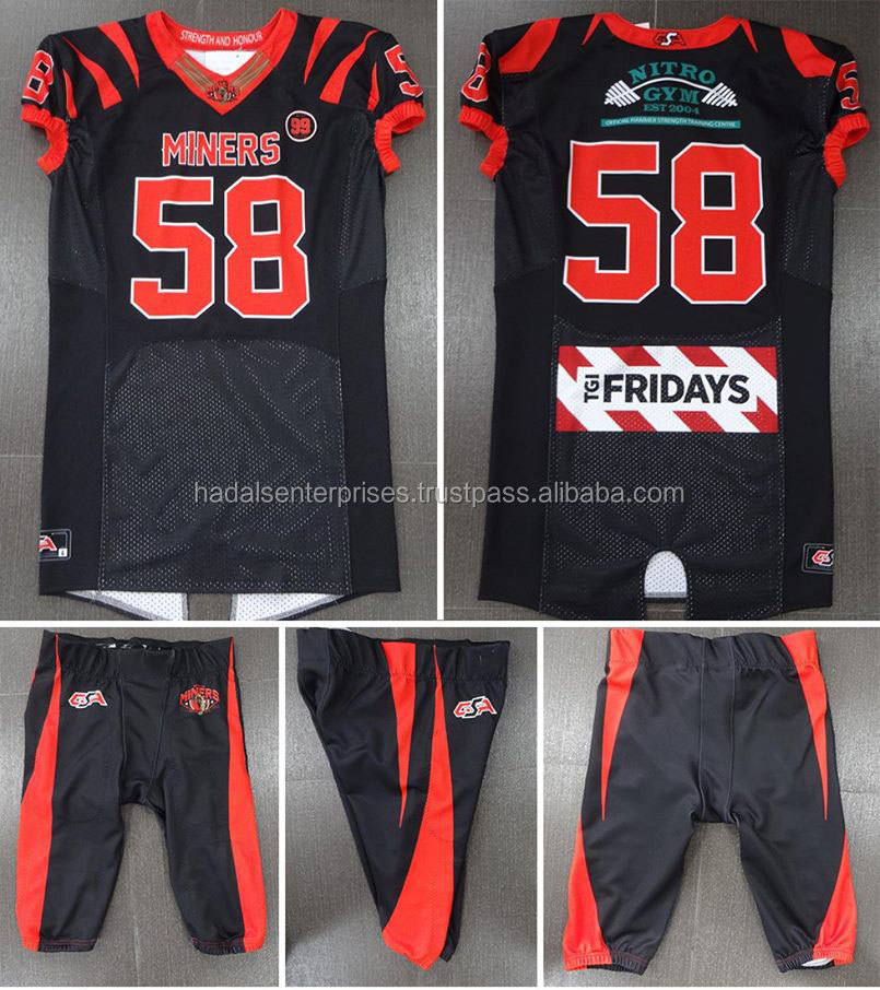 Fully Customized American Football Jersey and Pants