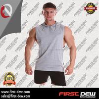 Branded Fleece Plain Sport Vest Training Streetwear Jersey Sleeveless Mens Gym Wear Hoodies