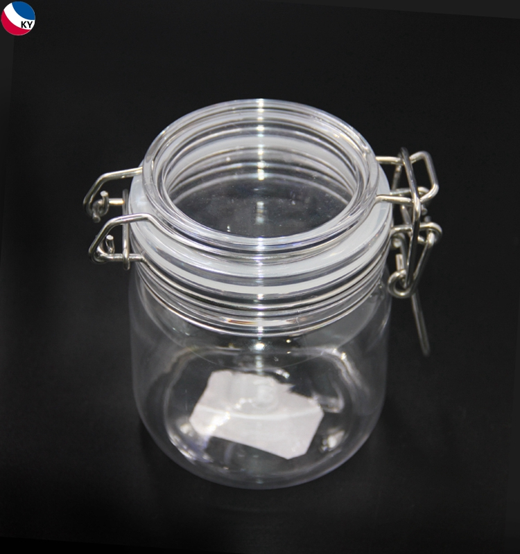 Skin care clear frosted pp cosmetic jar clear plastic with thick bottom cosmetic jars for skin care cream bottle