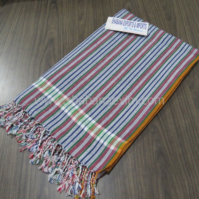 Beach pareo kikoy toalla stripe cotton bath towels