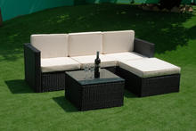 Outdoor poly rattan furniture