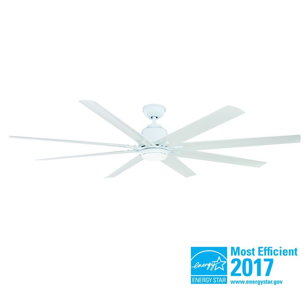Home Decorators Collection Kensgrove 72 in. LED Indoor/Outdoor White Ceiling Fan with Light Kit and Remote Control