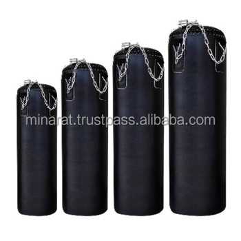 Black Kick Boxing Heavy Punch Bag Chain Punchbag Un Filled Kickbag MMA Training