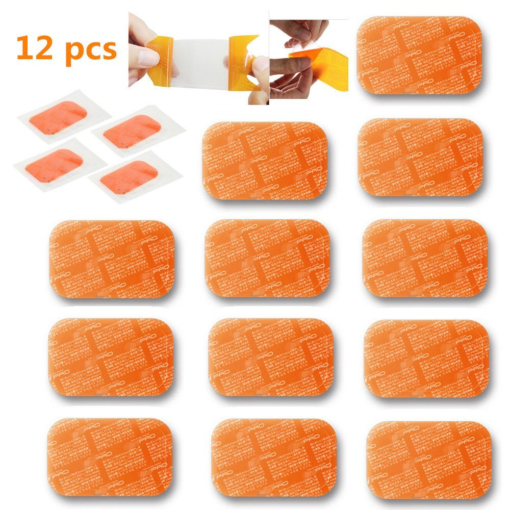 6PACK PAD Gel Sheet Pads Replacement for Abdominal Toning Belt, EMS AB Trainer, Waist Trimmer Belt,ABS Toner Body Muscle Trainer