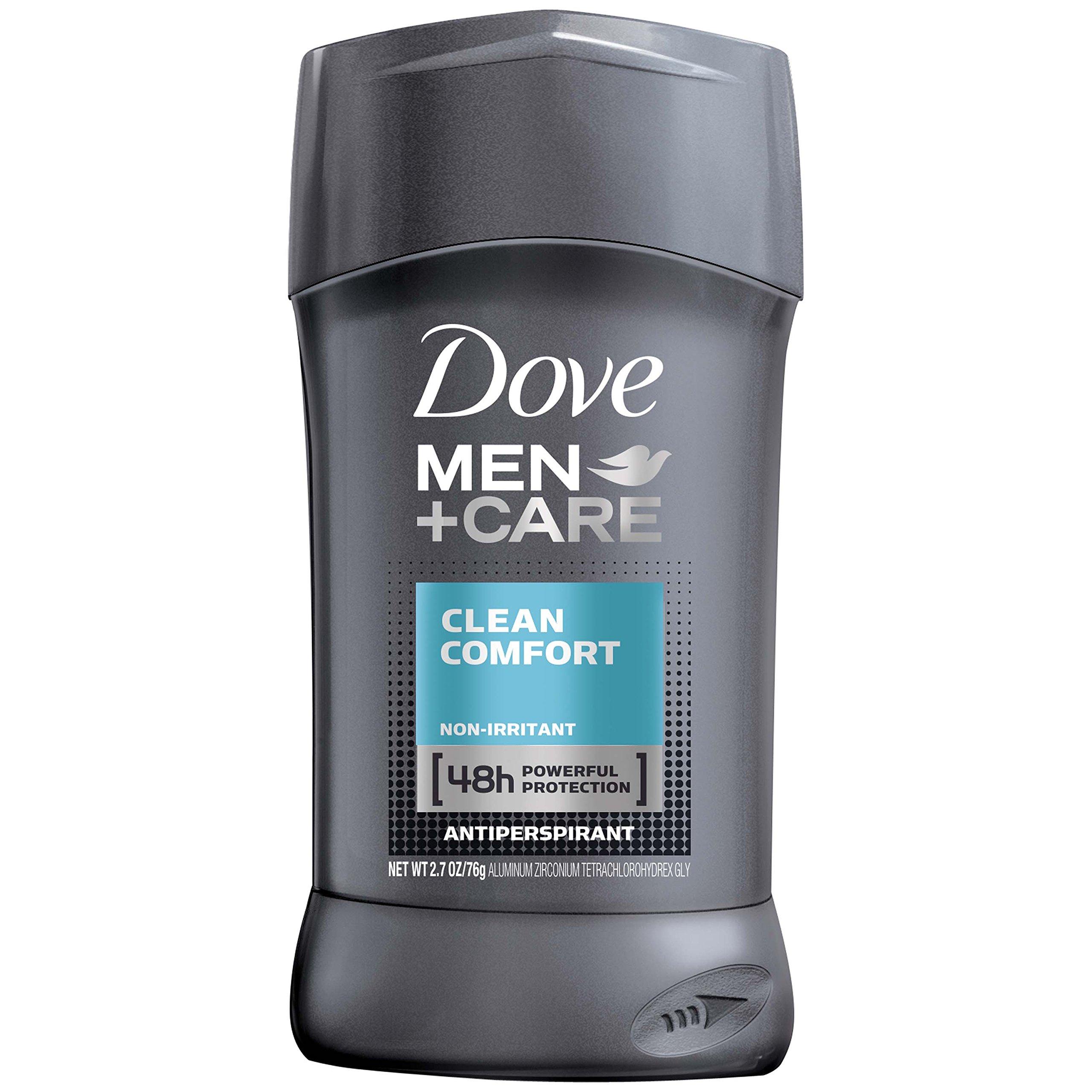 Dove Men+Care Antiperspirant Deodorant Stick, Clean Comfort, 2.7 oz (pack of 3)