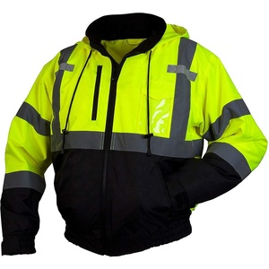 High Visibility Safety Orange Jackets Mens Winter Coats Reflective Jacket Wholesale