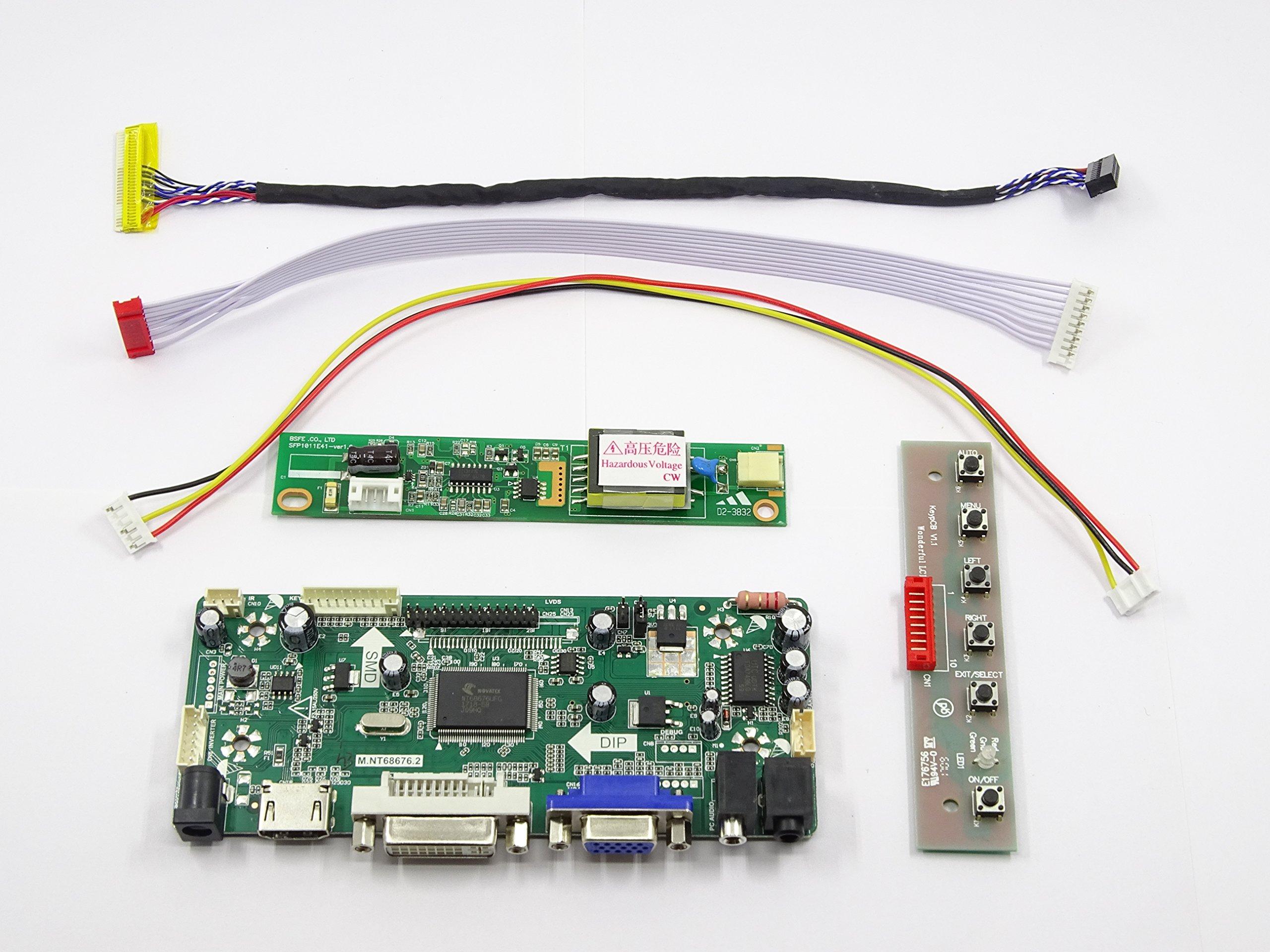 "HDMI+DVI+VGA LCD Controller board Kit for 14.1/"" 1400X1050 LTN141P4-L01 panel WXG"