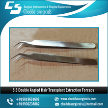 Latest S.S Double Angled Hair Transplant Extraction Forceps. Ellis Instruments Pattern
