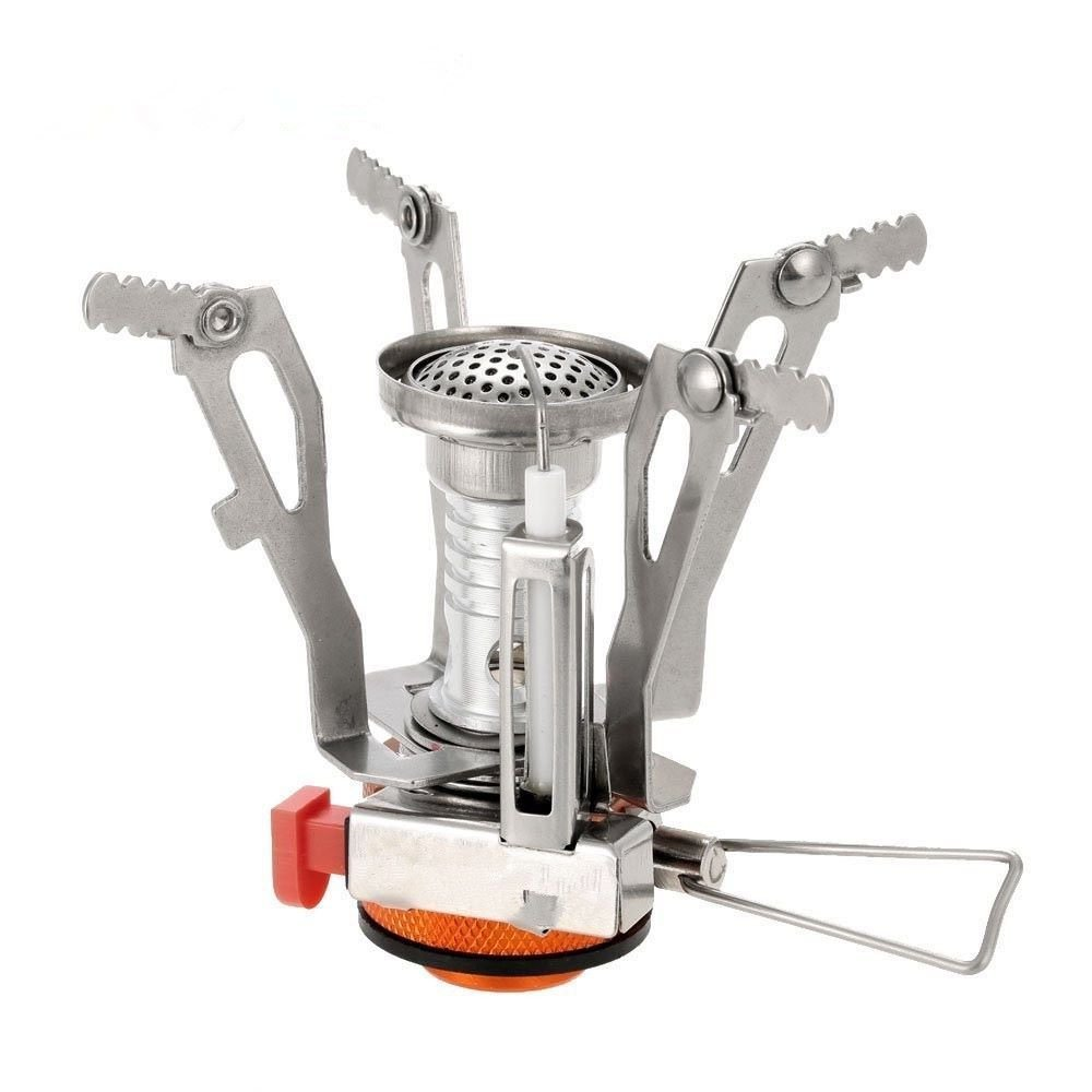 Tinpa Ultralight Portable Camping Stove Outdoor Collapsible Windproof Backpacking Camping Stoves with Piezo Ignition for Cookout, Picnic, Camping, Hiking