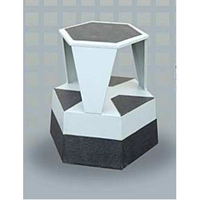Library Furniture Hexagon Kick Step Stool