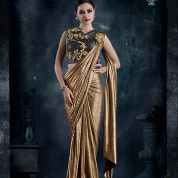 Mabel Premium Fancy Designer Ready to Wear Party Wear Sari Shari Saree For Women