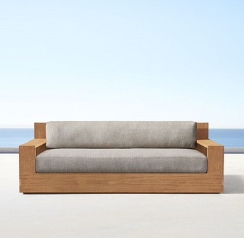 New Modern Garden Outdoor Teak Wood Sofa Set - Buy Outdoor Teak Wood  Furniture,Solid Wood Sofa Set,Sofa Set Product on Alibaba.com