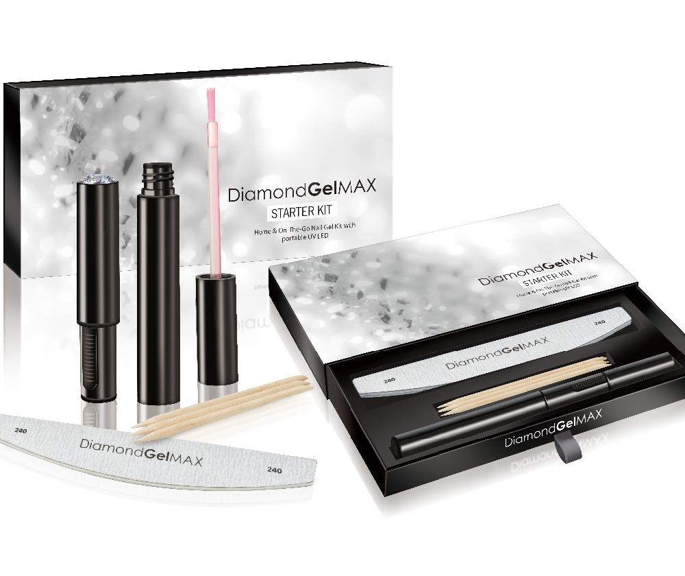 Diamondgelmax,Starter Kit,Home And On-the-go Portable Nail Gel Kit ...