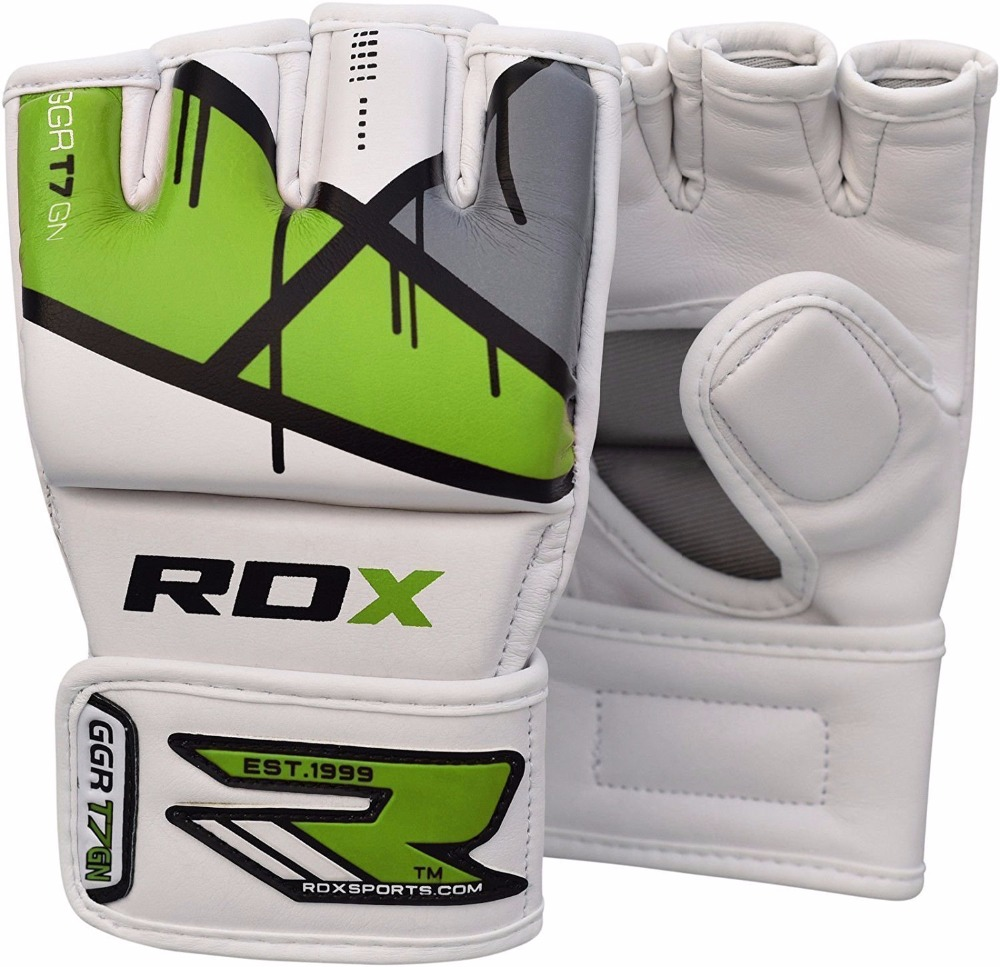 RDX Maya Hide Leather Grappling MMA Gloves UFC Cage Fighting Sparring Glove Training OEM & ODM